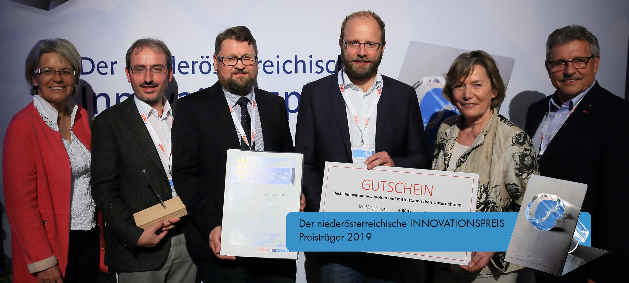 Schmid Schrauben Hainfeld gagne le Niederösterreichischer Innovationspreis [prix de l'innovation de Basse-Autriche] 2019